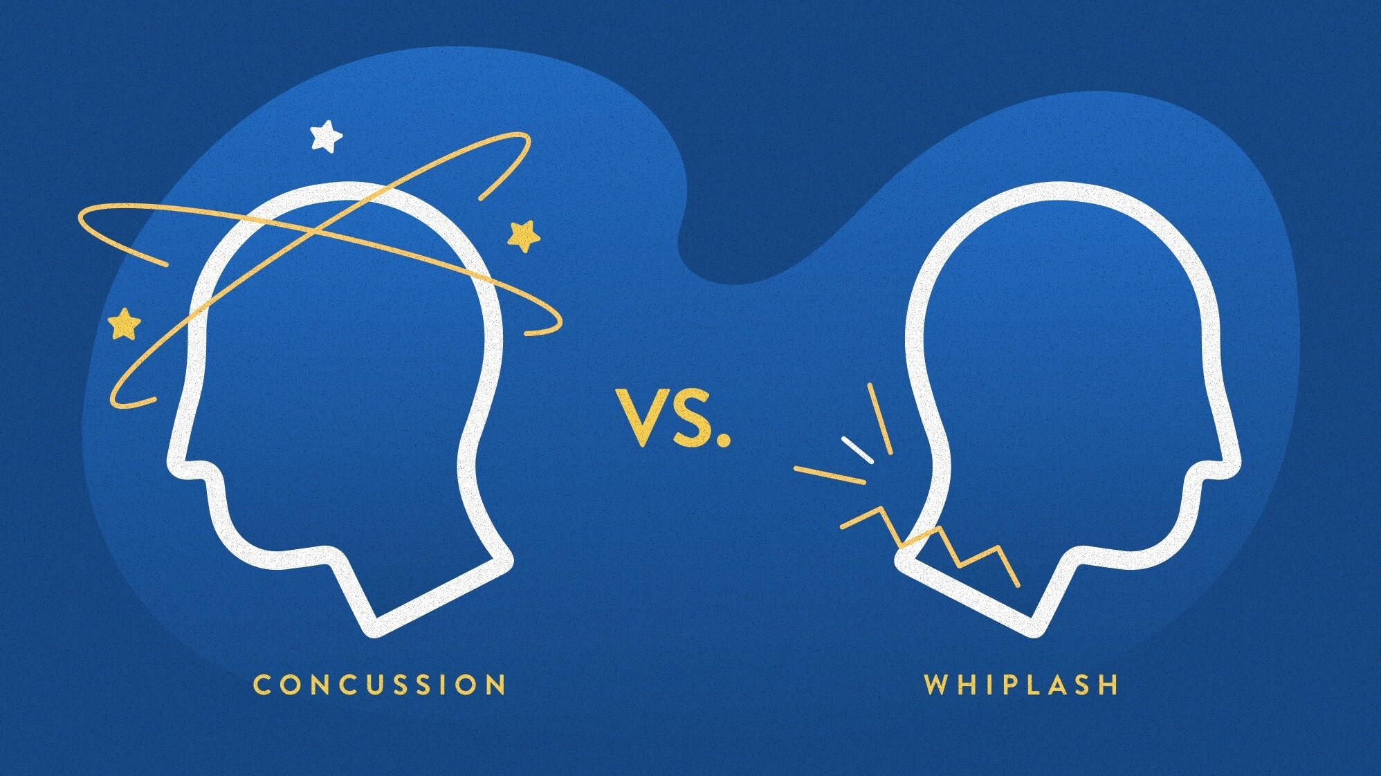 concussion vs. whiplash